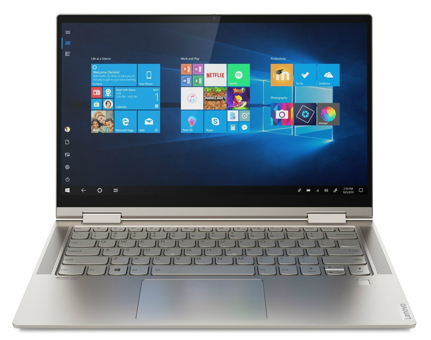 Лаптоп Lenovo Yoga C740 - 81TC002MBM, сив - 1