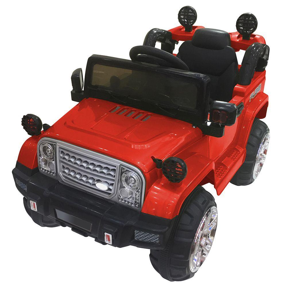 Акумулаторен джип Ocie - Safari, червен - 1