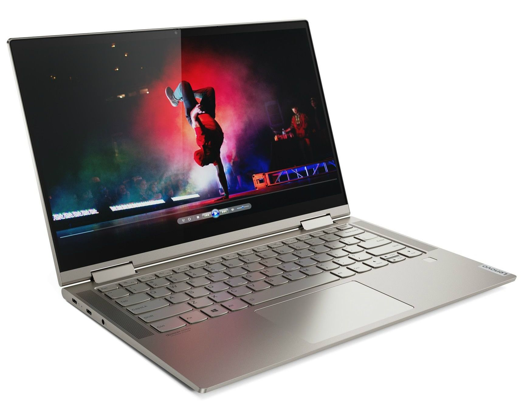 Лаптоп Lenovo Yoga C740 - 81TC002MBM, сив - 2