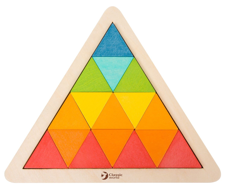 Дървена мозайка Classic World – Триъгълник - 1