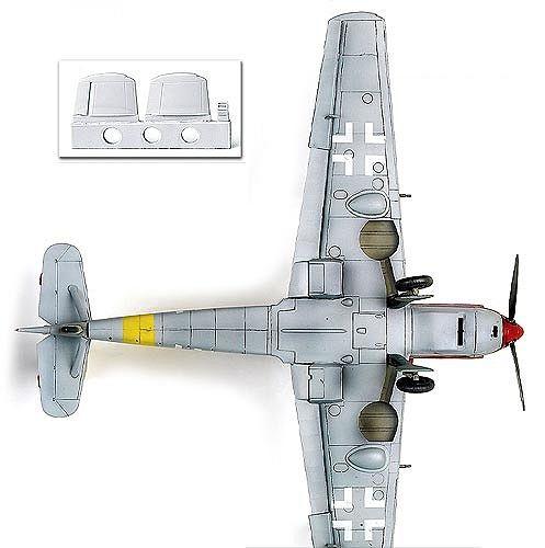 Военен самолет Academy Messerschmitt Bf 109 T-2 (12225) - 3