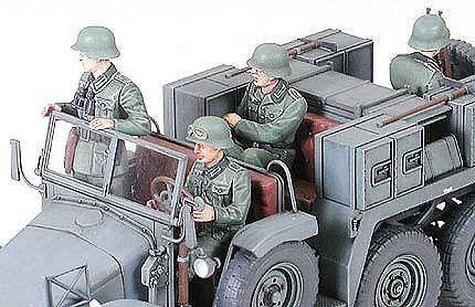 Tamiya военен камион с ремарке-оръдие Krupp Towing Truck (35259) - 4
