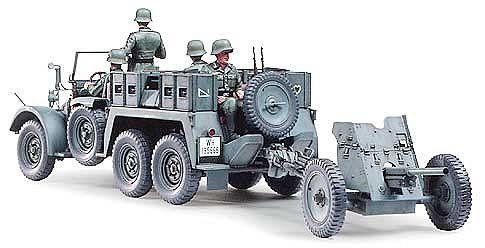 Tamiya военен камион с ремарке-оръдие Krupp Towing Truck (35259) - 2