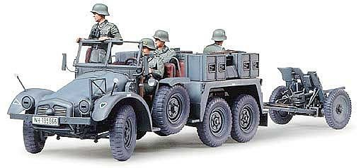 Tamiya военен камион с ремарке-оръдие Krupp Towing Truck (35259) - 1