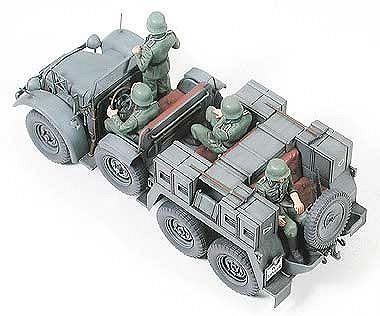 Tamiya военен камион с ремарке-оръдие Krupp Towing Truck (35259) - 5