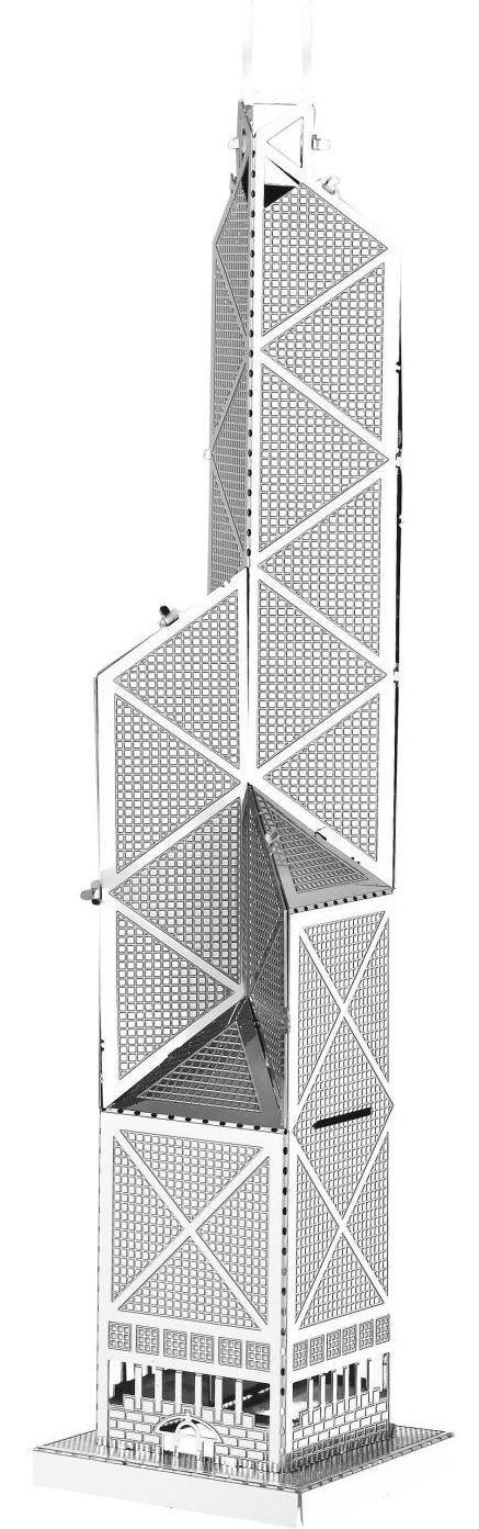3D метален пъзел Tronico - Кулата на банка в Китай, Хонг Конг - 1