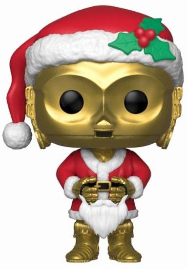 Фигура Funko Pop! Star Wars: Holiday Santa C-3PO (Bobble-Head), #276 - 1