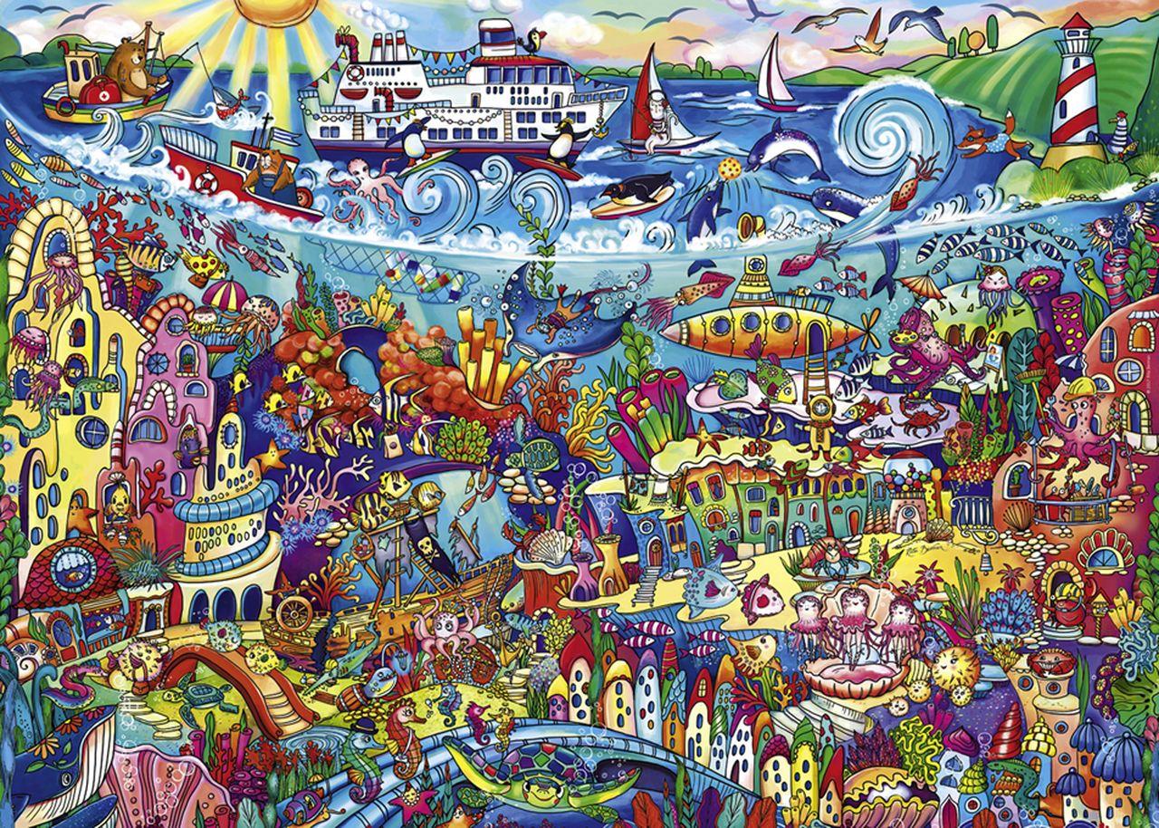 Пъзел Heye от 1000 части - Вълшебно море, Рита Берман - 2