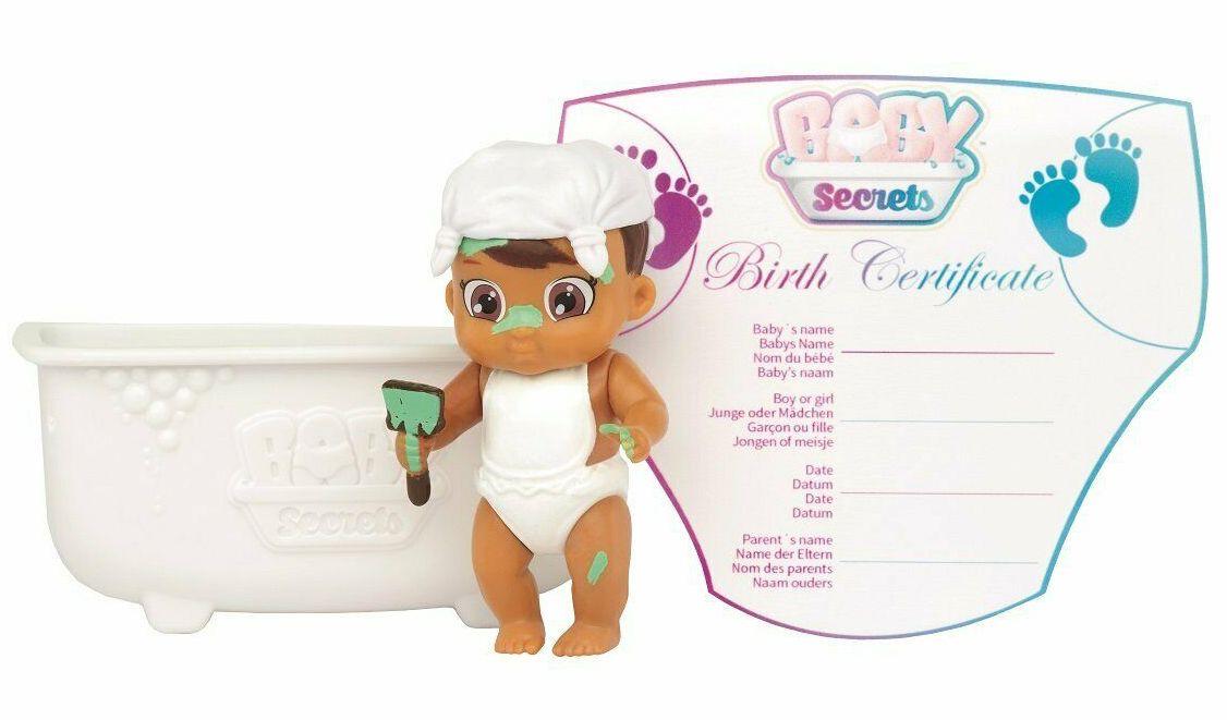 Фигурка-изненада Zapf Creation - Бебче във вана Baby Secrets, асортимент - 1