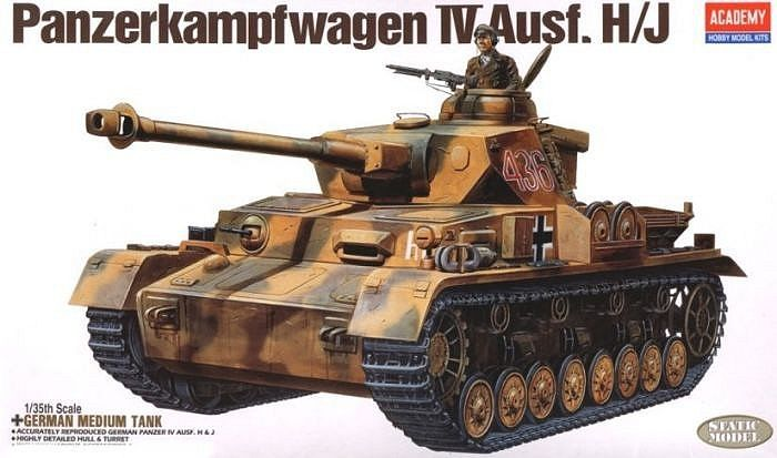 Немски танк Academy Panzerkampfwagen IV Ausf. H/J (13234) - 1
