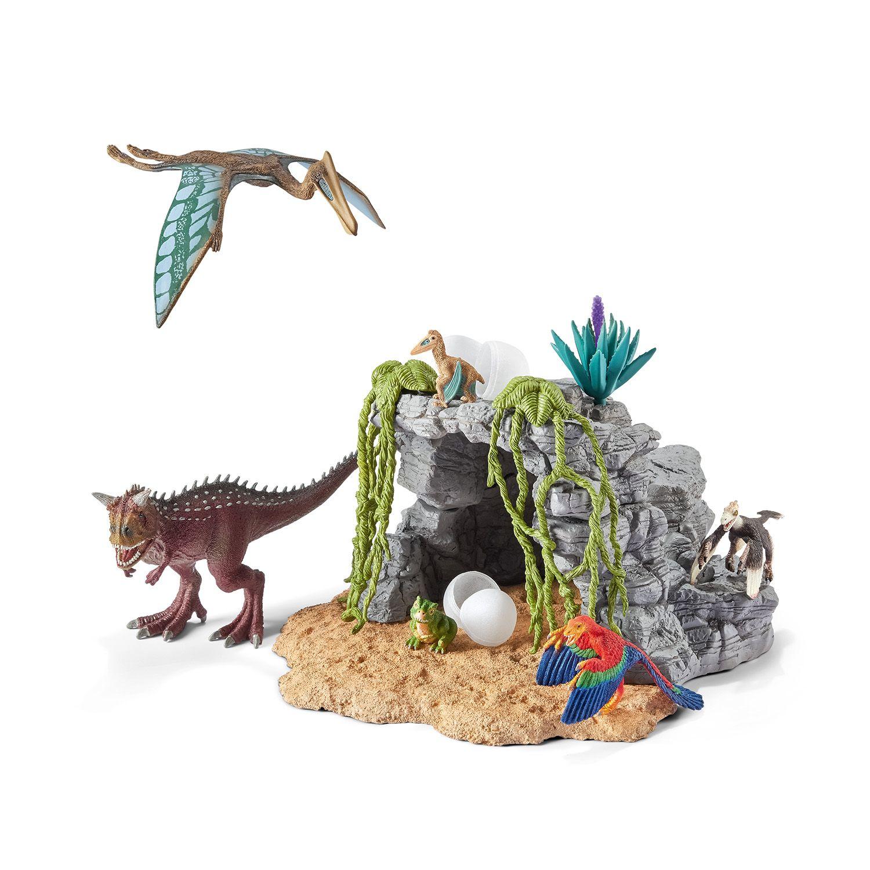 Фигурка Schleich от серията Аксесоари към Динозаври: Комплект - динозаври с пещера - 1