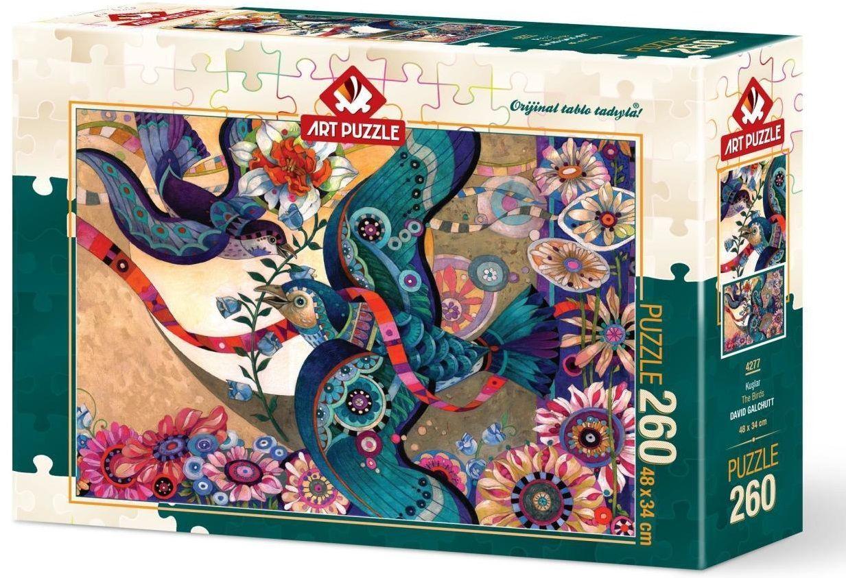 Пъзел Art Puzzle от 260 части - Птиците, Дейвид Галчът - 1