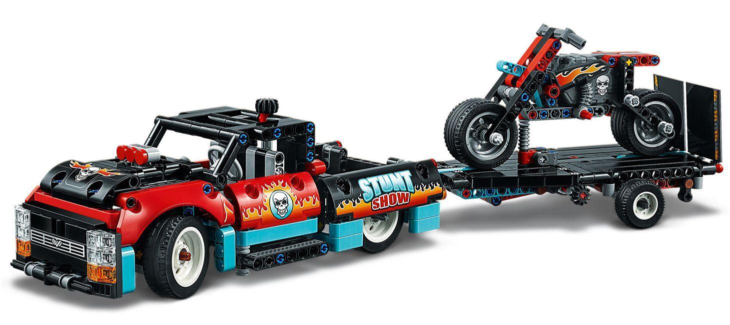 Конструктор Lego Technic - Камион и мотоциклет за каскади (42106) - 4