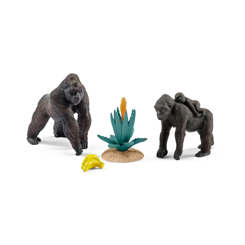 Фигурки Schleich от серията Аксесоари към Диви Животни: Комплект - горили - 1