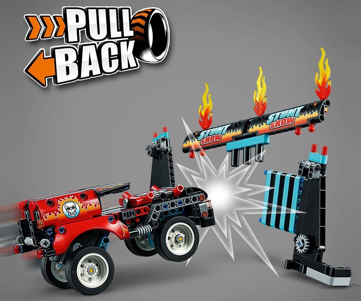 Конструктор Lego Technic - Камион и мотоциклет за каскади (42106) - 10