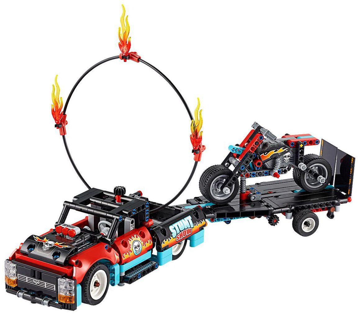 Конструктор Lego Technic - Камион и мотоциклет за каскади (42106) - 5