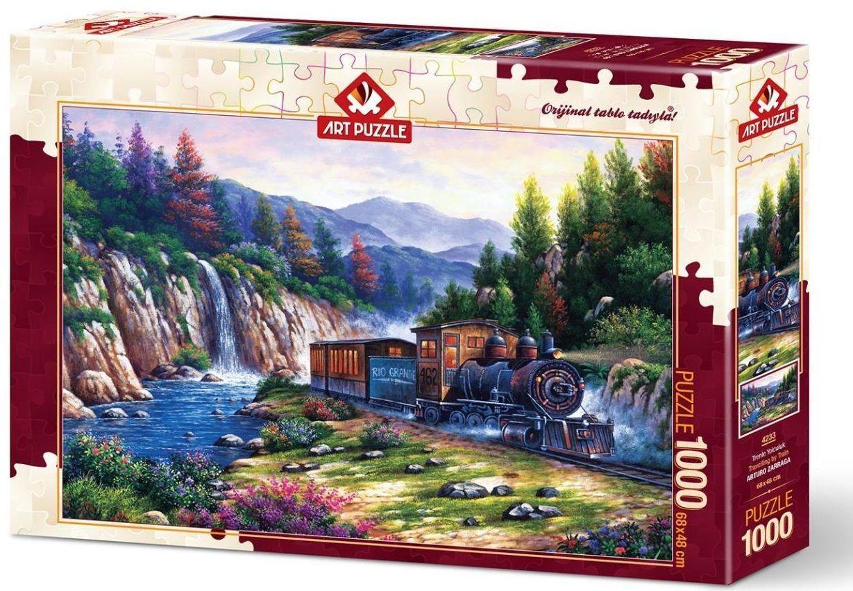Пъзел Art Puzzle от 1000 части - Пътуване с влак, Артуро Зарага - 1