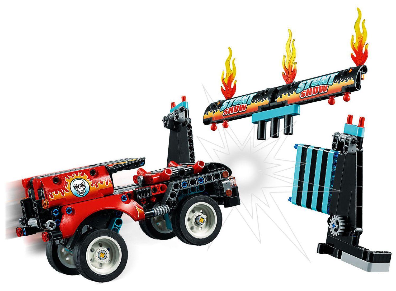 Конструктор Lego Technic - Камион и мотоциклет за каскади (42106) - 8