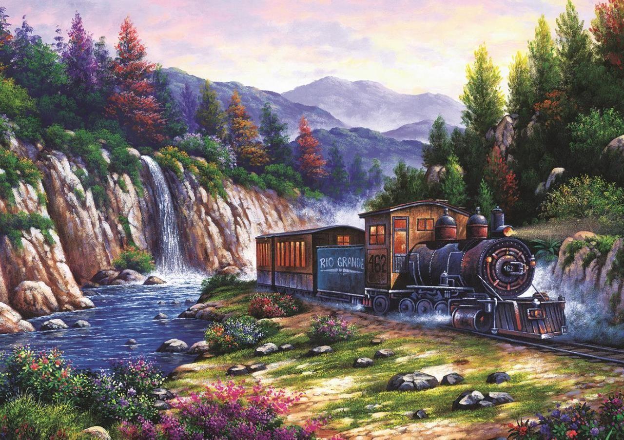 Пъзел Art Puzzle от 1000 части - Пътуване с влак, Артуро Зарага - 2