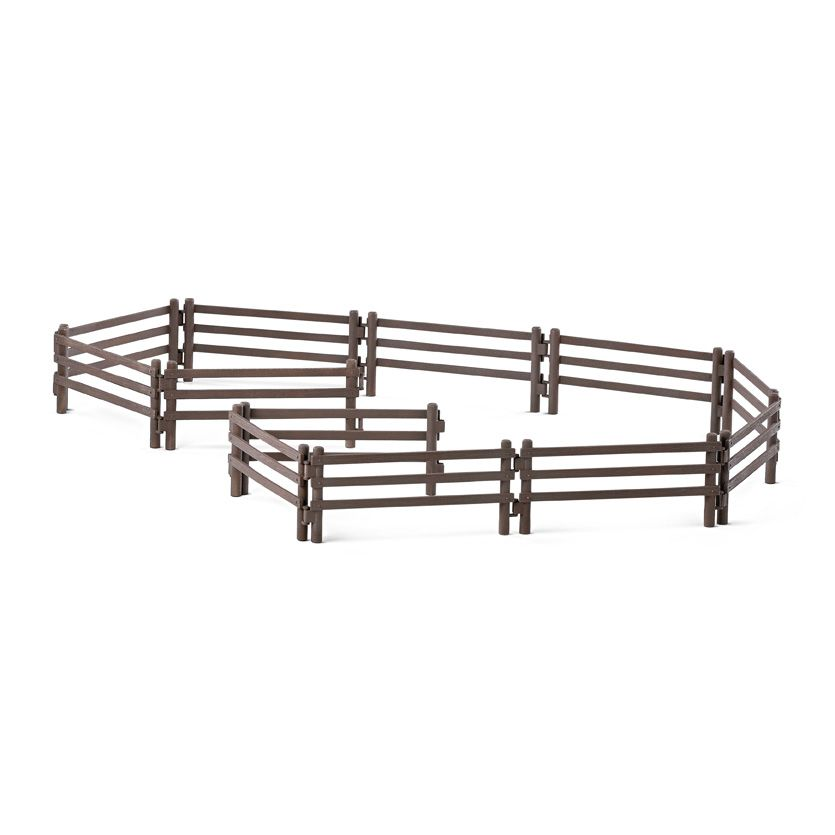 Фигурка Schleich от серията Аксесоари към Животни във фермата: Ограда за коне - 1