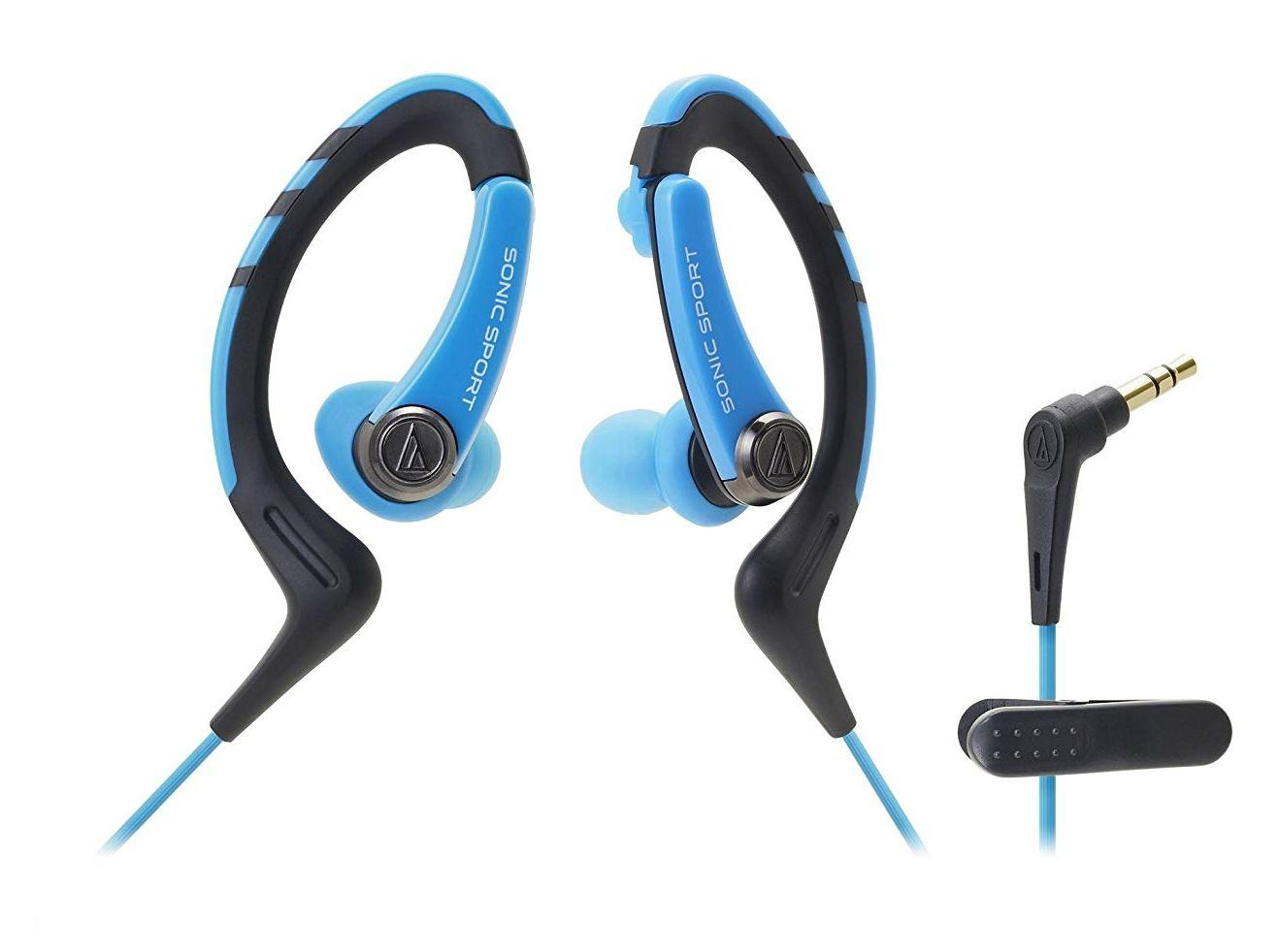 Слушалки Audio-Technica ATH-SPORT1BL - сини - 1