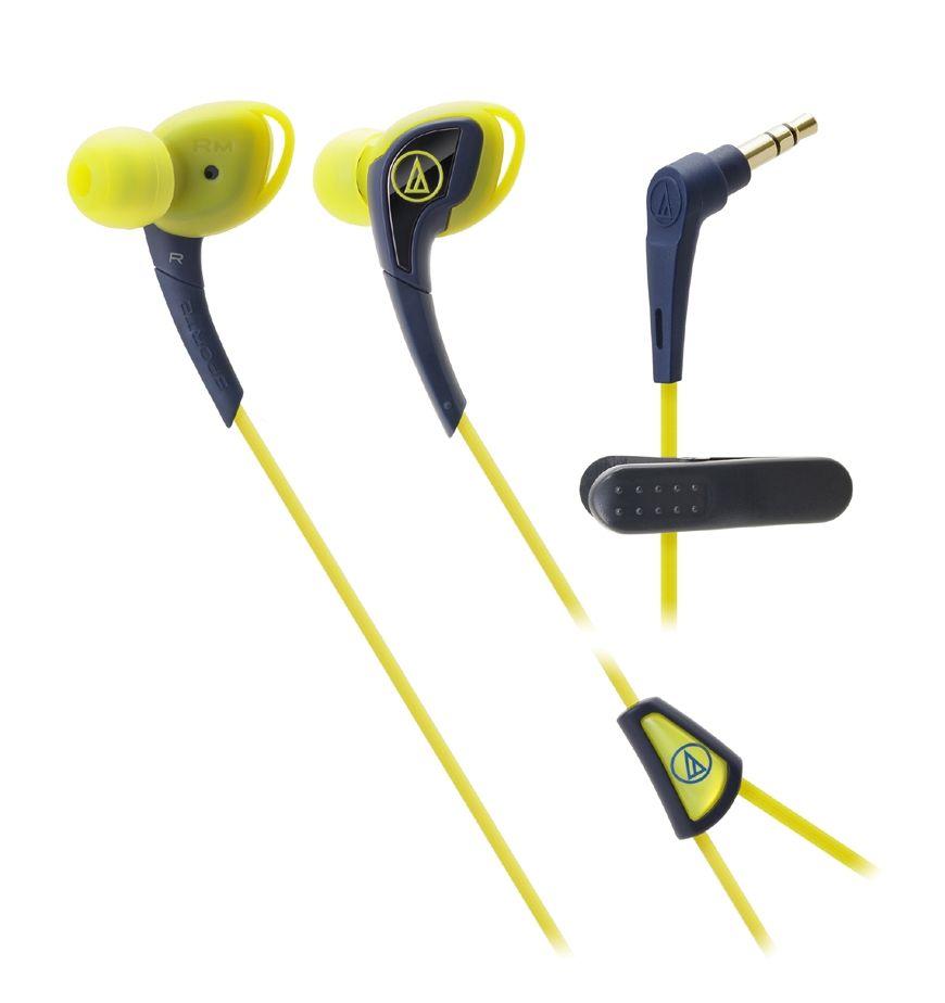 Слушалки Audio-Technica ATH-SPORT2NY - жълти - 1