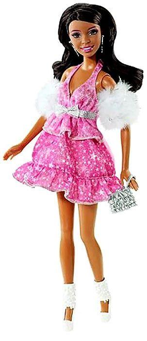 Барби с розова рокля - 1