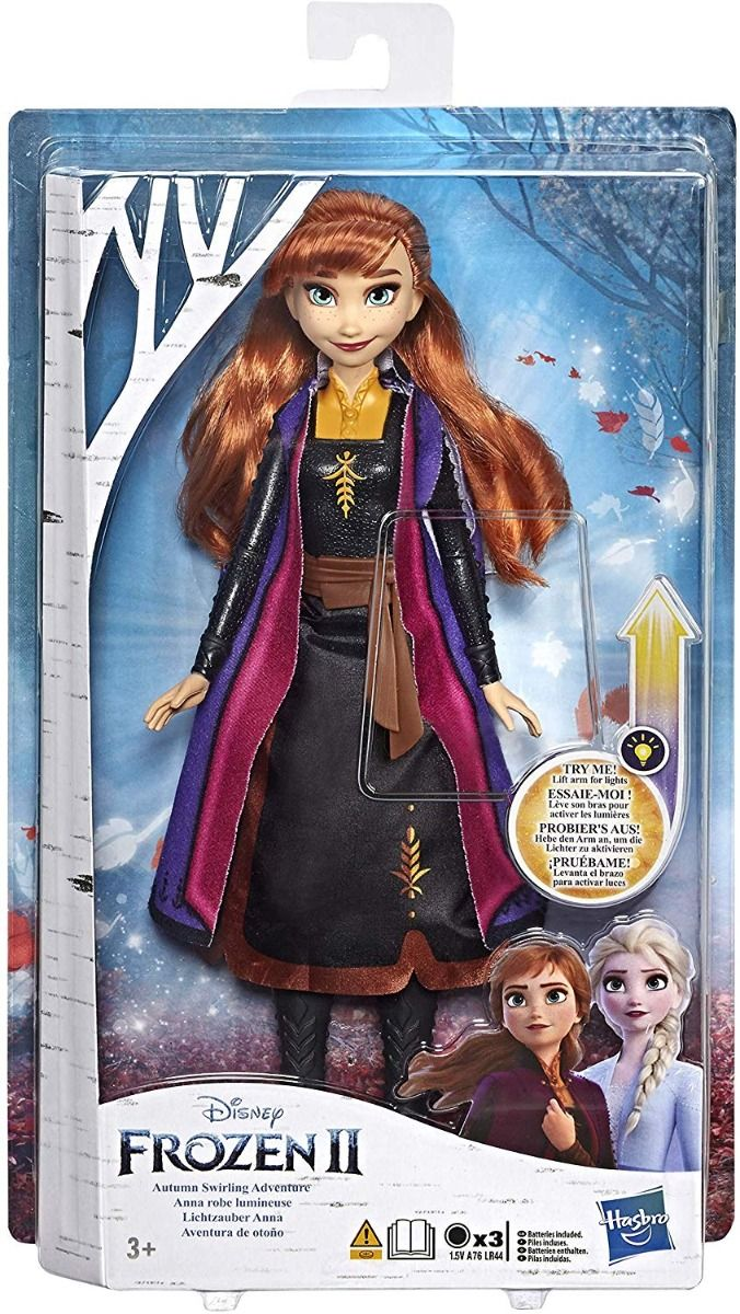 Кукла Hasbro Frozen 2 - Анна със светеща рокля - 1