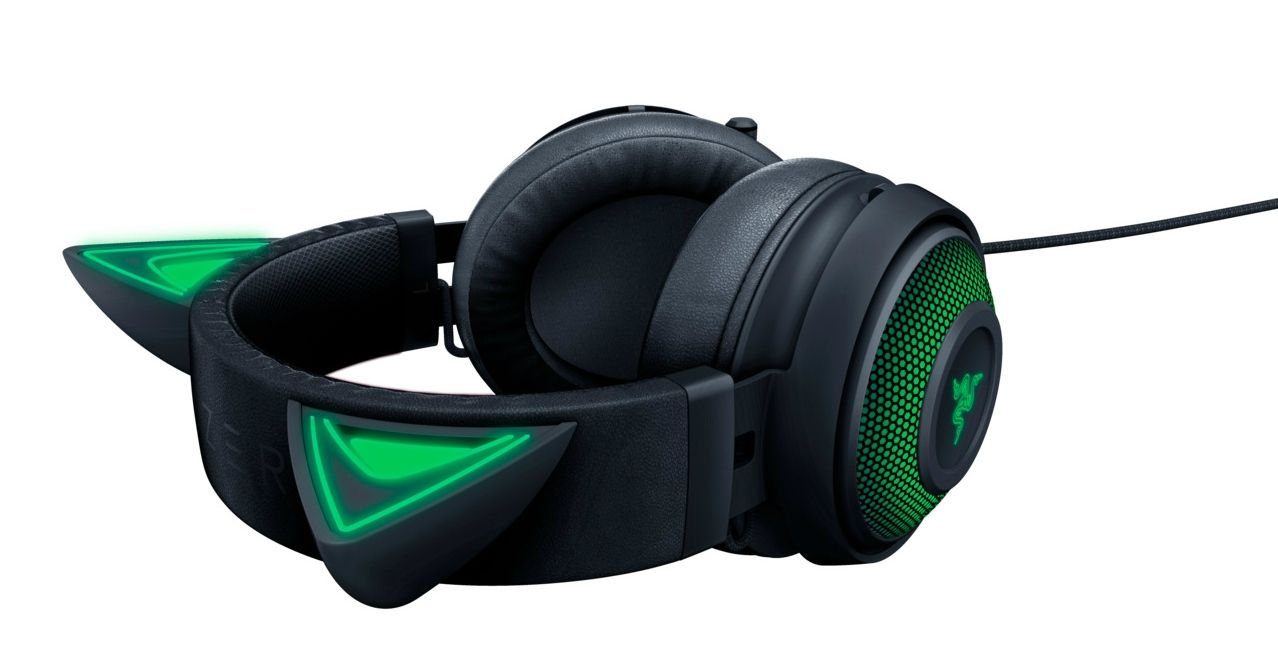 Гейминг слушалки Razer Kraken Kitty Ed. - черни - 6