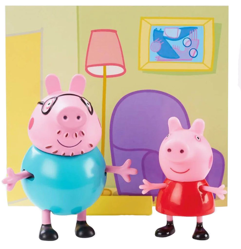 Комплект фигурки Peppa Pig - 2 фигурки с декор, асортимент - 2