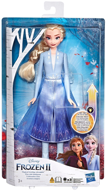 Кукла Hasbro Frozen 2 - Елза със светеща рокля - 1
