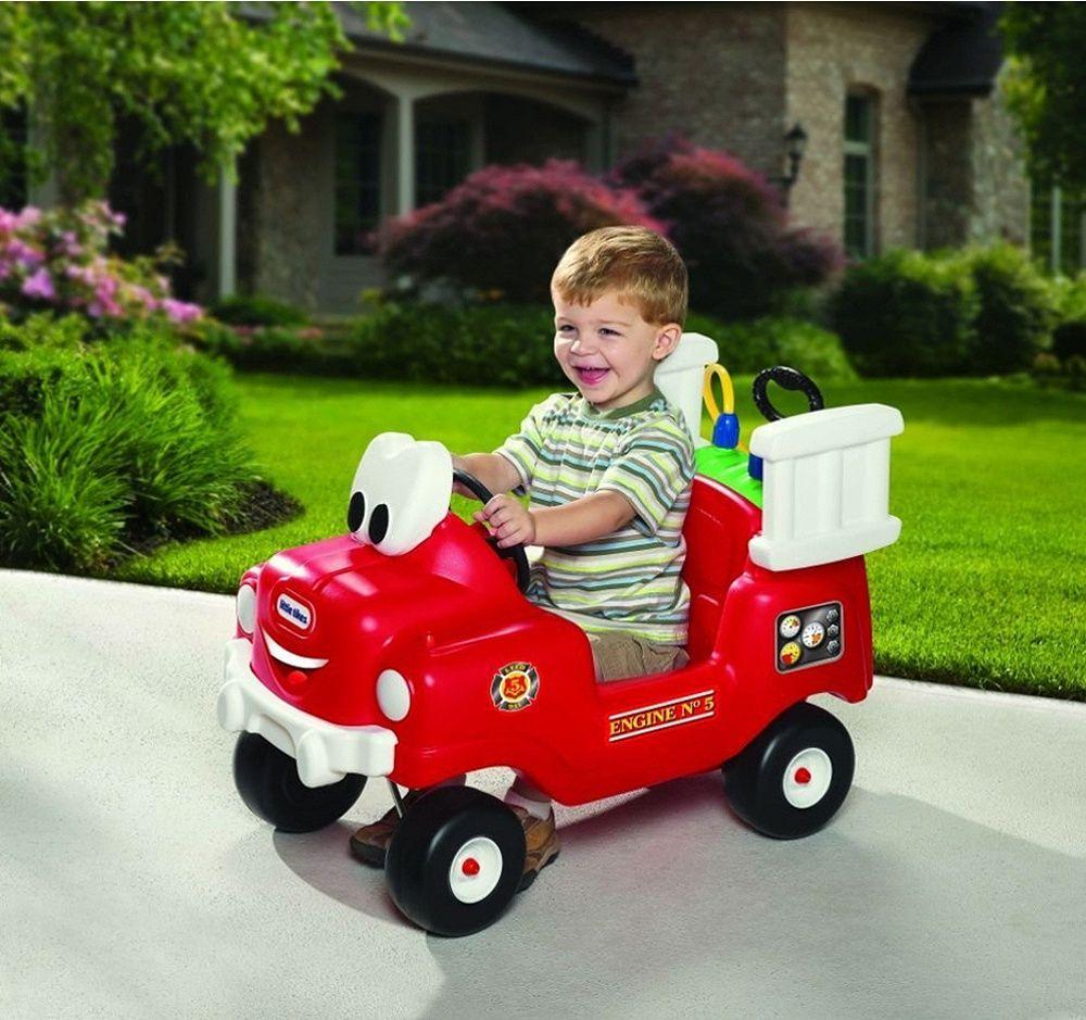 Пожарникарска кола за каране и бутане с контейнер за вода и маркуч - 3