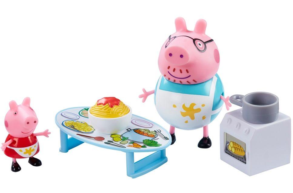 Комплект фигурки Peppa Pig - Kухня, с 2 фигурки - 1
