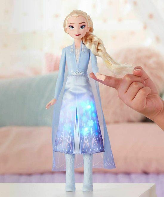 Кукла Hasbro Frozen 2 - Елза със светеща рокля - 4
