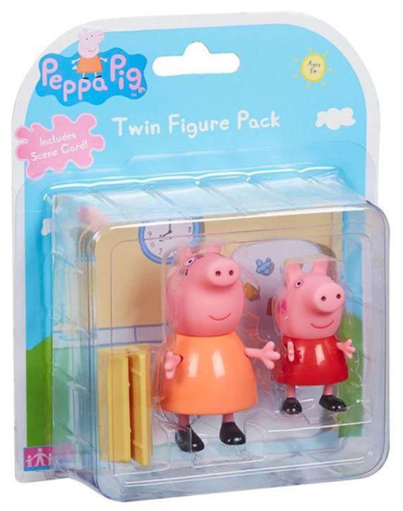Комплект фигурки Peppa Pig - 2 фигурки с декор, асортимент - 5