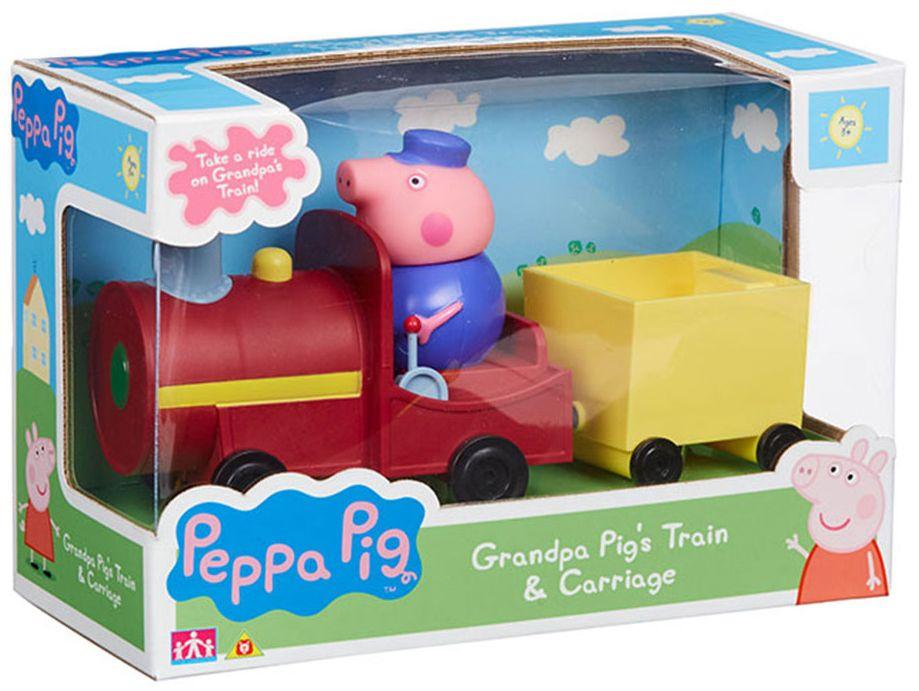 Игрален комплект Peppa Pig - Влакчето на Дядо Прасенце - 1