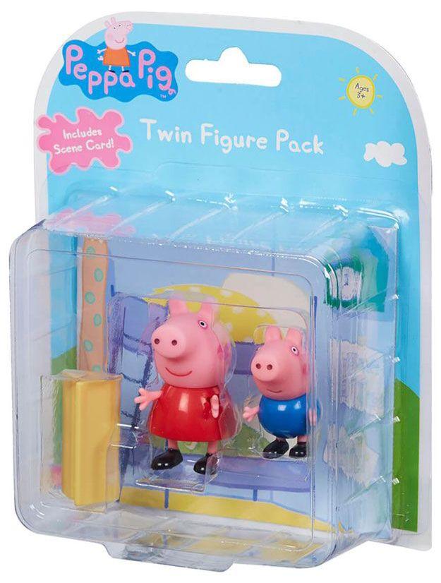 Комплект фигурки Peppa Pig - 2 фигурки с декор, асортимент - 3