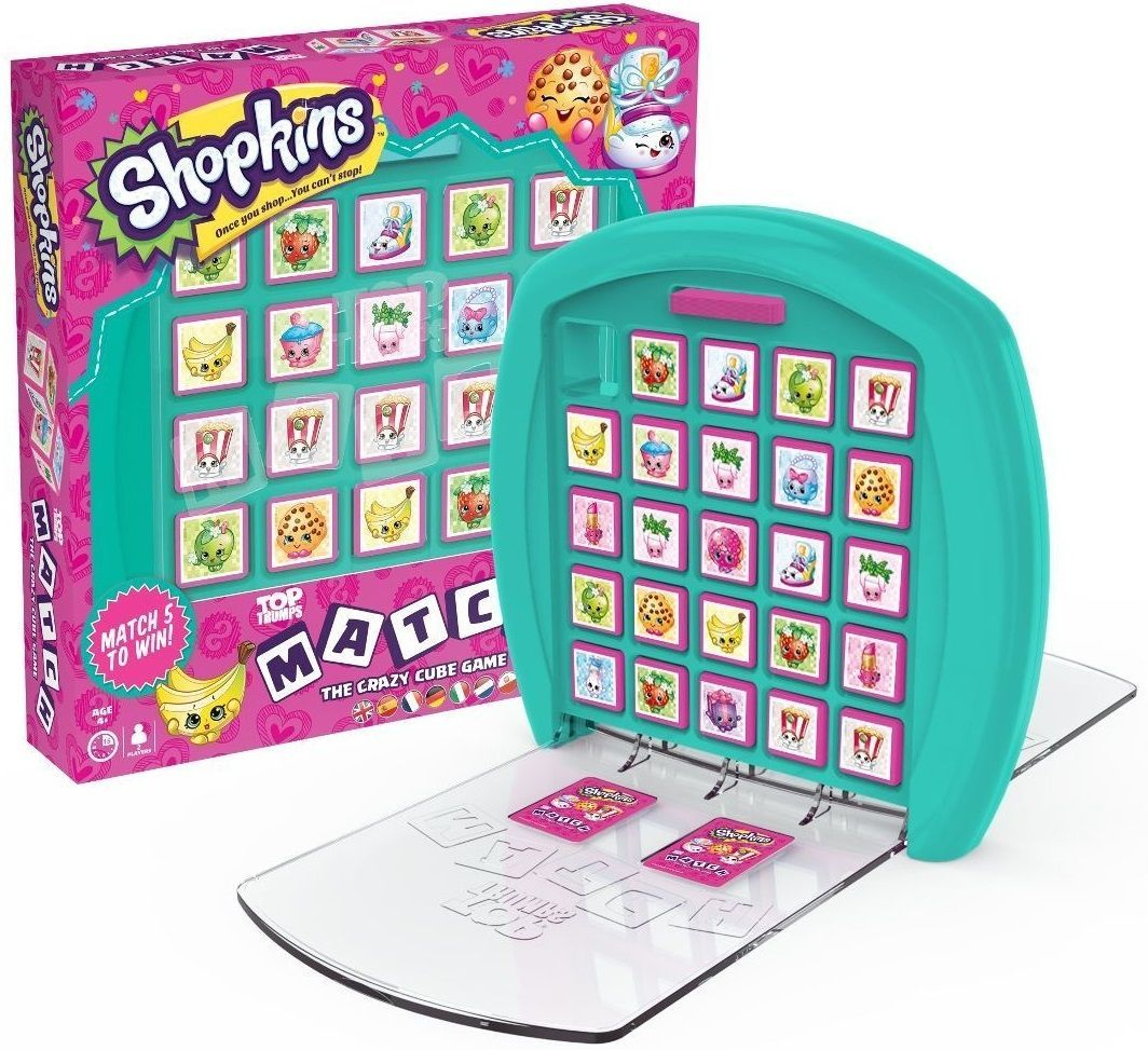 Игра с карти и кубчета Top Trumps Match - Shopkins - 1