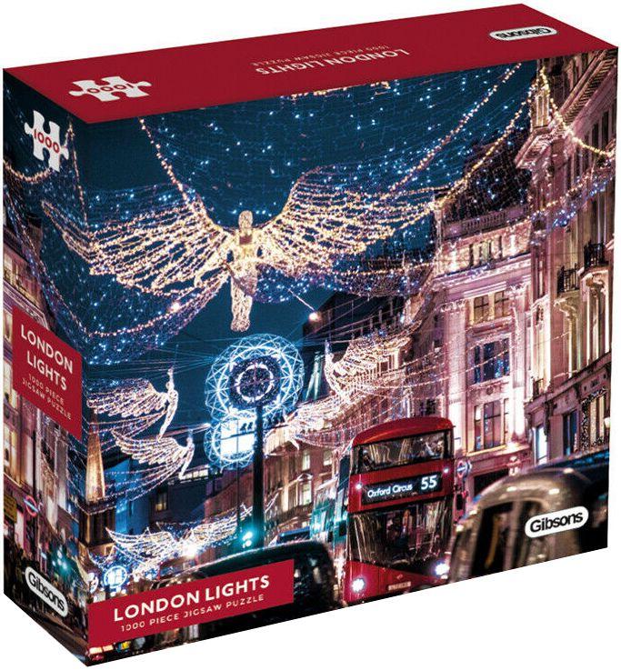 Пъзел Gibsons от 1000 части - Светлините на Лондон - 1
