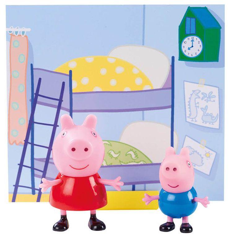 Комплект фигурки Peppa Pig - 2 фигурки с декор, асортимент - 4