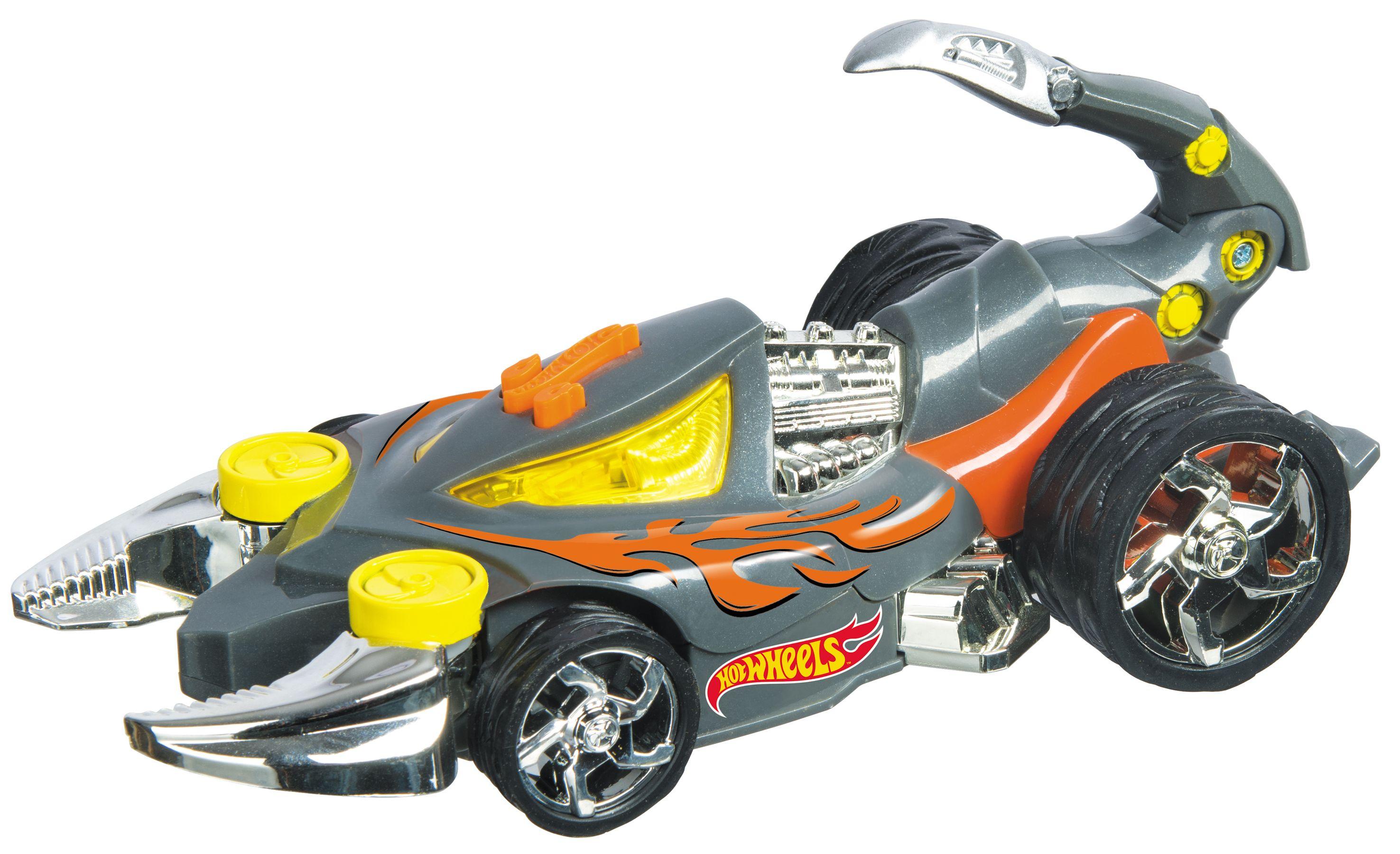 Количка-скорпион Mondo Motors Hot Wheels - Scorpedo, със звук и светлина - 2