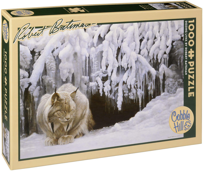 Пъзел Cobble Hill от 1000 части - Снежен рис, Робърт Бейтмън - 1