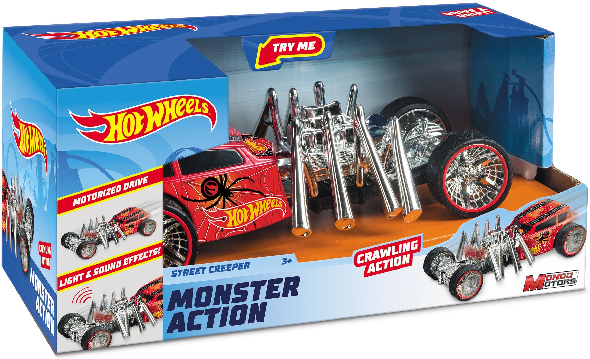 Количка-паяк Mondo Motors Hot Wheels - Street Creeper, със звук и светлина - 1
