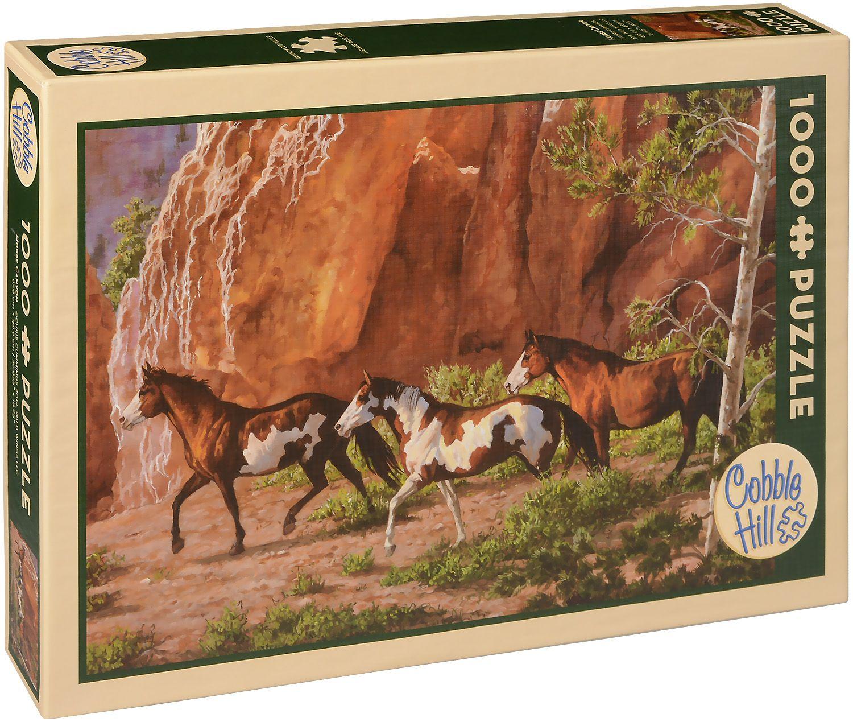 Пъзел Cobble Hill от 1000 части - Каньона на конете, Крис Къминг - 1
