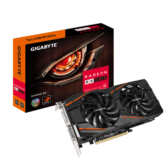 ВИДЕО КАРТА GIGABYTE RX 580 GAMING-8GD , 8GB GDDR5 256 BIT, DISPLAYPORT, HDMI, DVI-D - 1