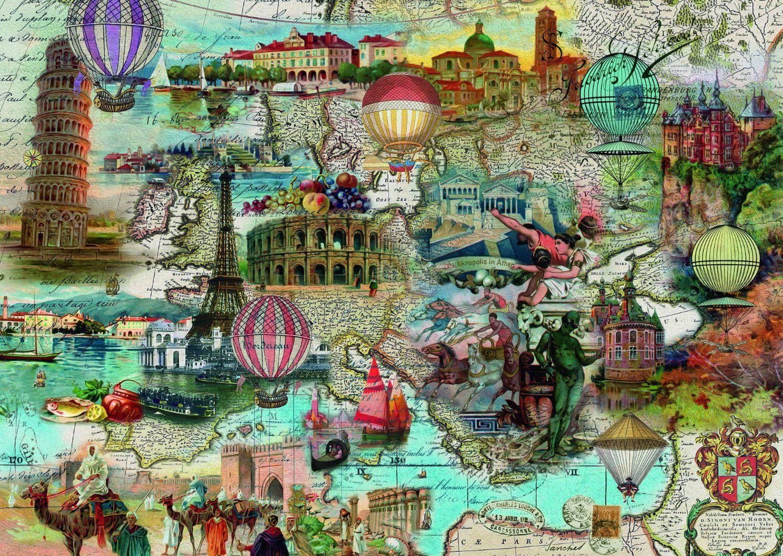 Пъзел Schmidt от 1000 части - С балон над Европа - 2