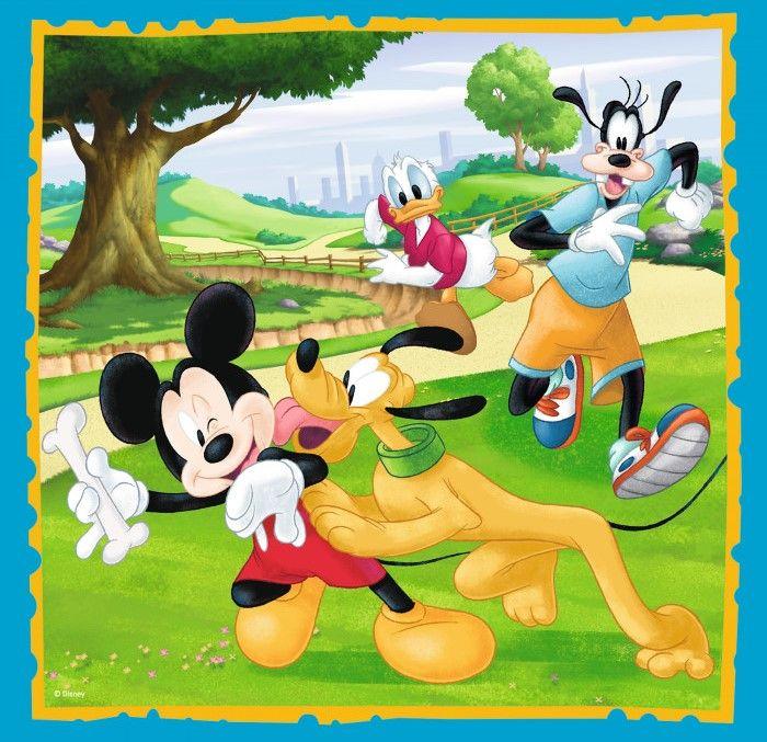Пъзел Trefl 3 в 1 - Мики Маус и приятели - 3
