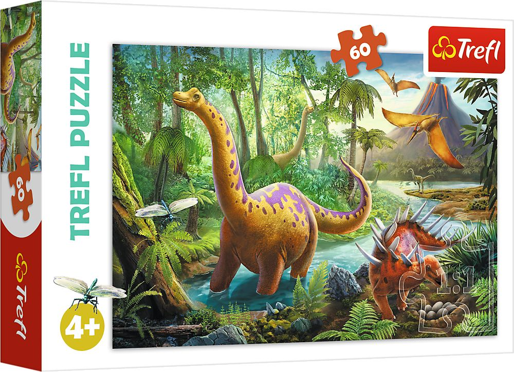 Пъзел Trefl от 60 части - Мигриращи Динозаври - 1