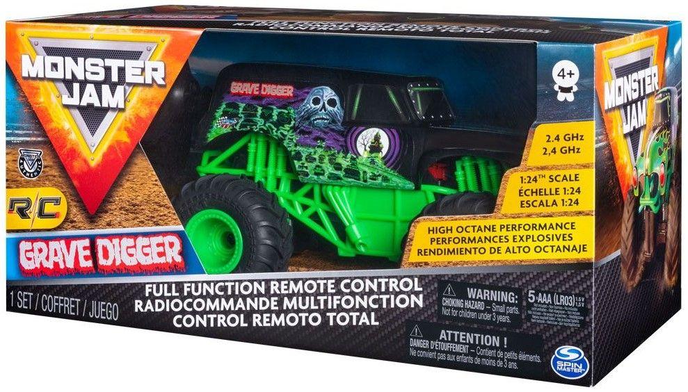 Радиоуправляема количка Spin Master Monster Jam - Джип Grave Digger, 1:24 - 1