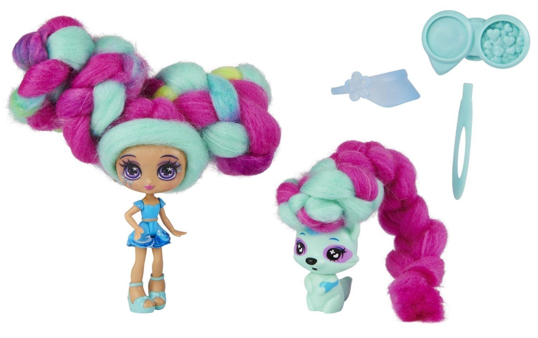 Мини кукла с ароматна коса Candylocks - С домашен любимец, асортимент - 8